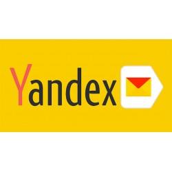 Pack 100 comptes Yandex.com